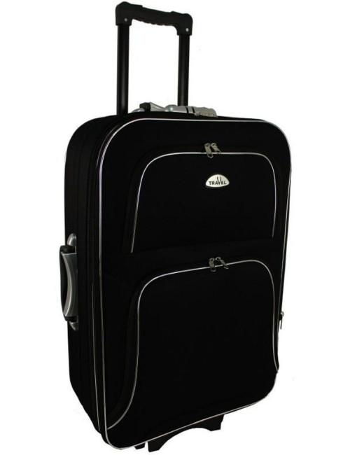 Średnia walizka podróżna na kółkach  301 XL - czarny