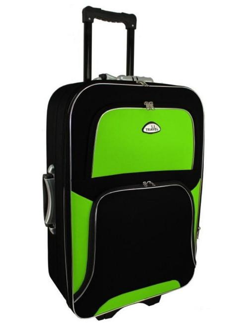 Średnia walizka podróżna na kółkach  301 XL - zielono-czarna