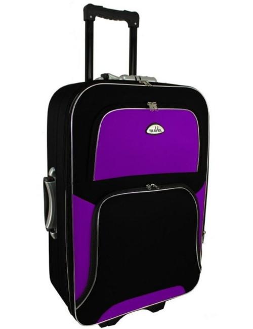 Średnia walizka podróżna na kółkach  301 XL - fioletowo-czarna