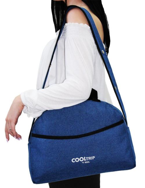 Uniwersalna torba na wózek dziecięcy model 01 pasek na ramię -  na ramieniu