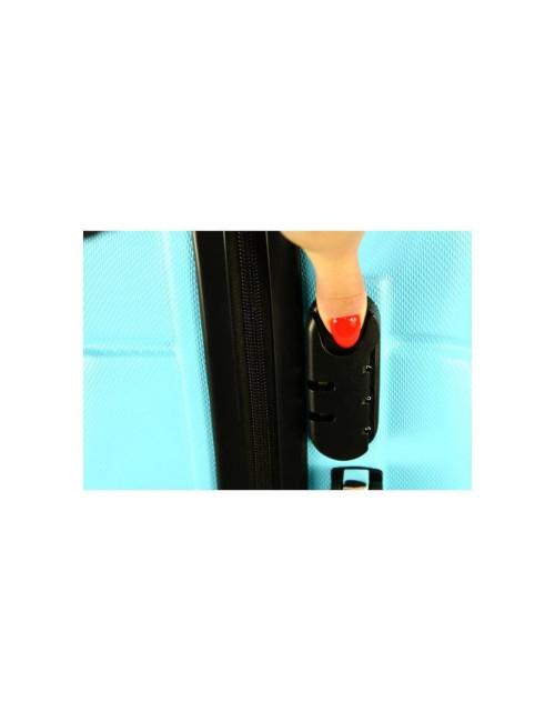 Mała walizka podróżna kabinowa na kółkach 720 M - wbudowany zamek szyfrowy