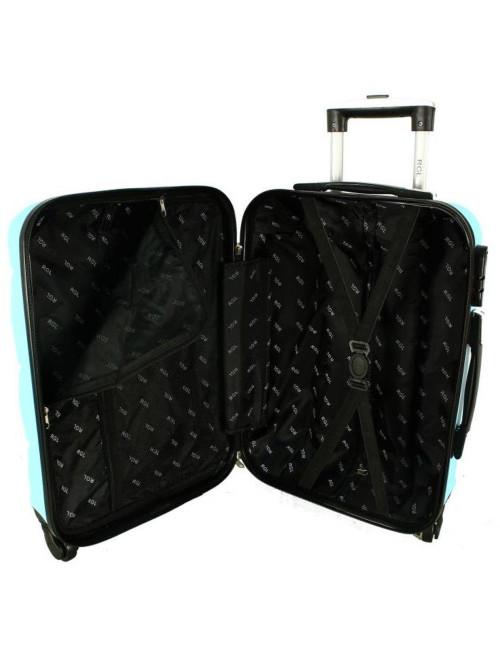 Mała walizka podróżna kabinowa na kółkach 720 M - pasy zabezpieczające