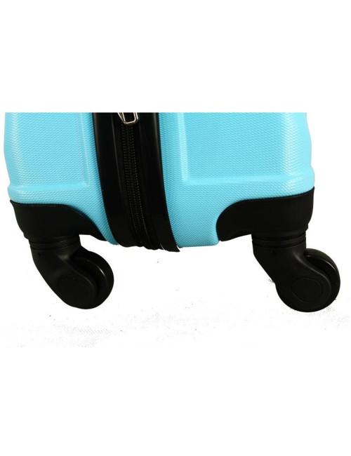 Mała walizka podróżna kabinowa na kółkach 720 M - kauczukowe kółka