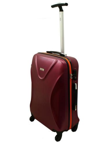 Duża walizka podróżna na kółkach 750 XXL Zamek TSA - bordowo-pomarańczowa