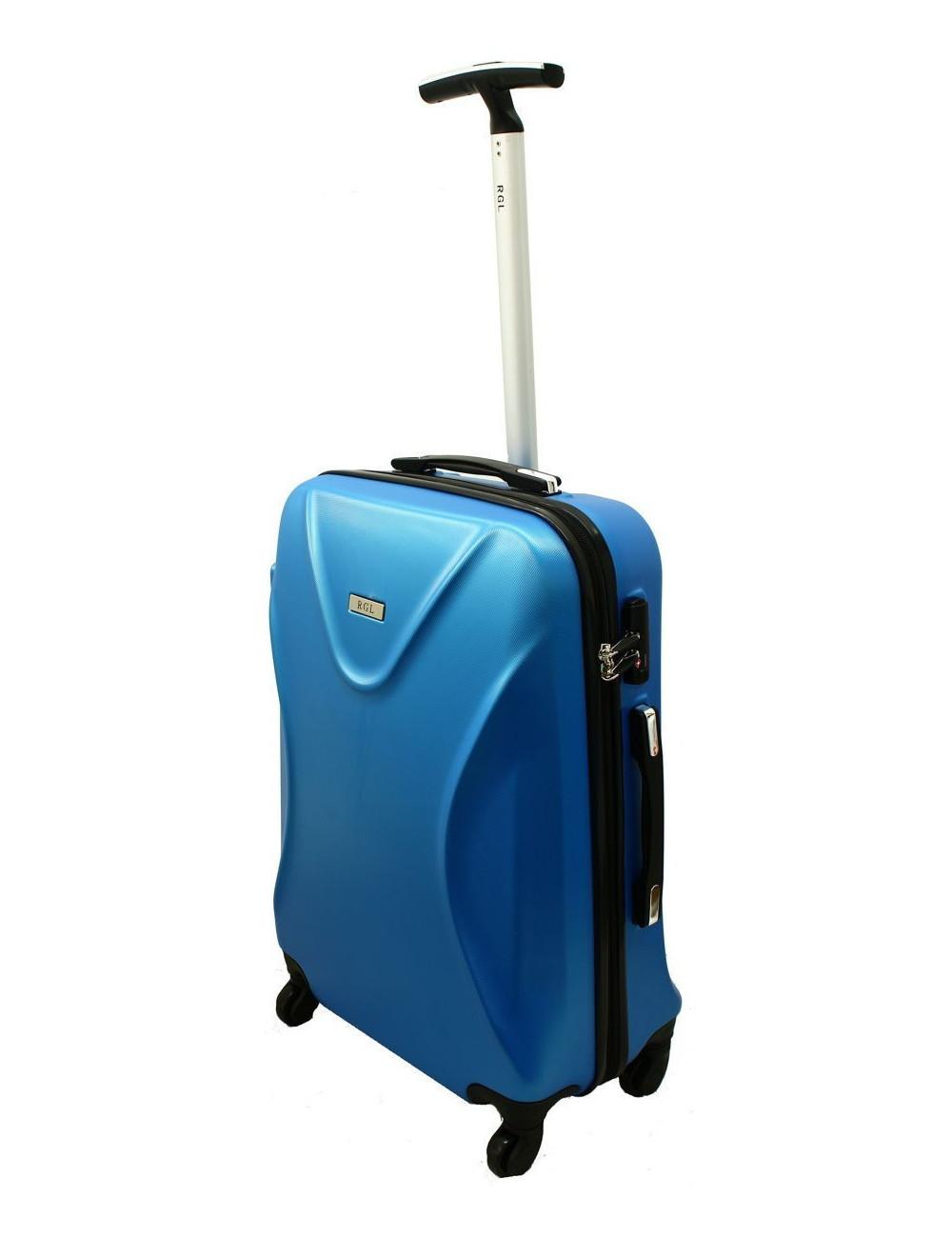 Średnia walizka podróżna na kółkach 750 XL Zamek TSA - niebieski