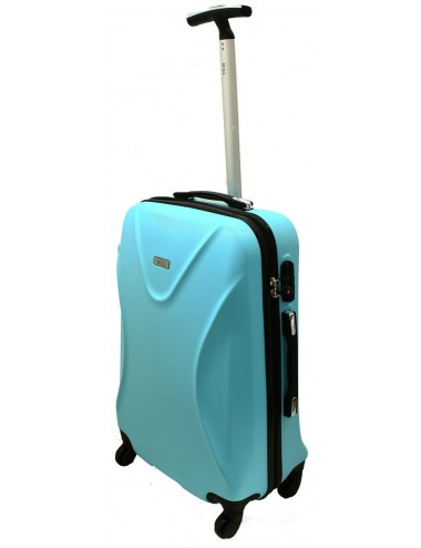 Mała walizka podróżna 750 L zamek TSA - lazurowa