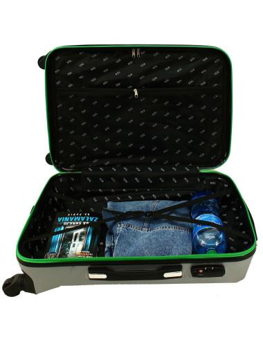 Mała walizka podróżna 750 L zamek TSA - wnętrze
