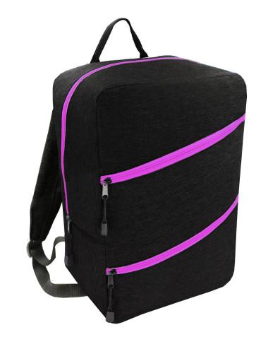 Plecak Torba RYANAIR 40x20x25 bagaż podręczny 43 - czarny z różowym zamkiem