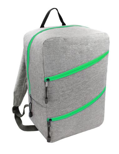 Plecak Torba WIZZAIR 40x30x20 bagaż podręczny 43 - szary z zielonym zamkiem