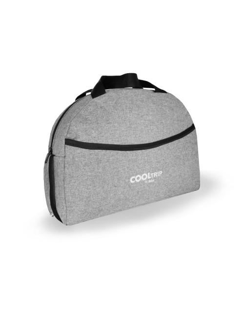 Uniwersalna torba na wózek dziecięcy model 01 pasek na ramię - szary