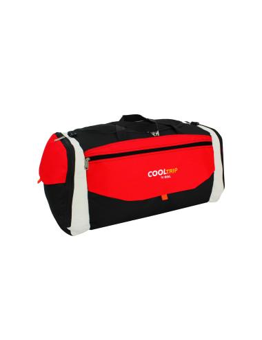 Torba podróżna na ramię 144L model 25A czarno-czerwony