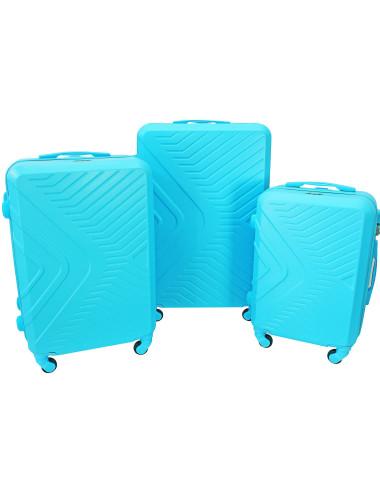 Komplet walizek X-1 -Lazurowy