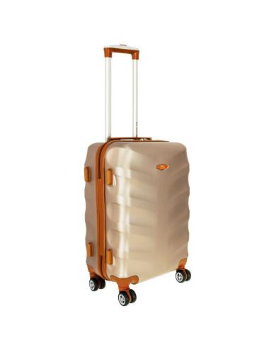Mała walizka podróżna L 6881 RGL Exclusive - szampan