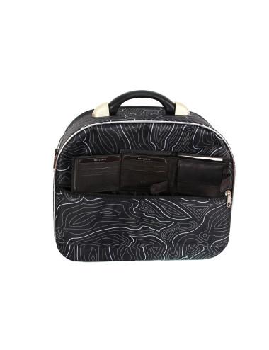Średni kuferek podróżny kosmetyczka 773 XL - pas umożliwiający transport na stelażu walizki