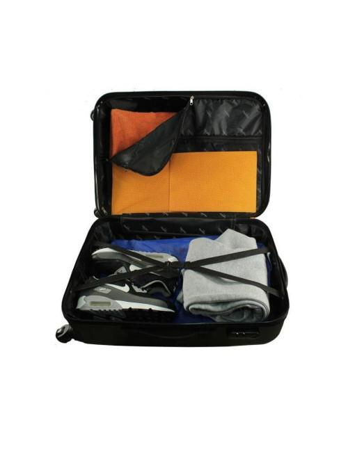 Zestaw walizek podróżnych 3w1 910 (XXL XL L) + kuferek L - Wnętrze Walizki