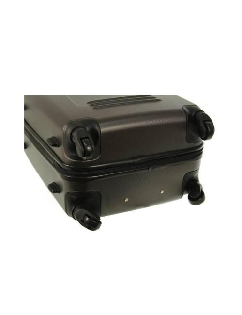 Zestaw walizek podróżnych 3w1 910 (XXL XL L) + kuferek L - Kauczukowe Kółka