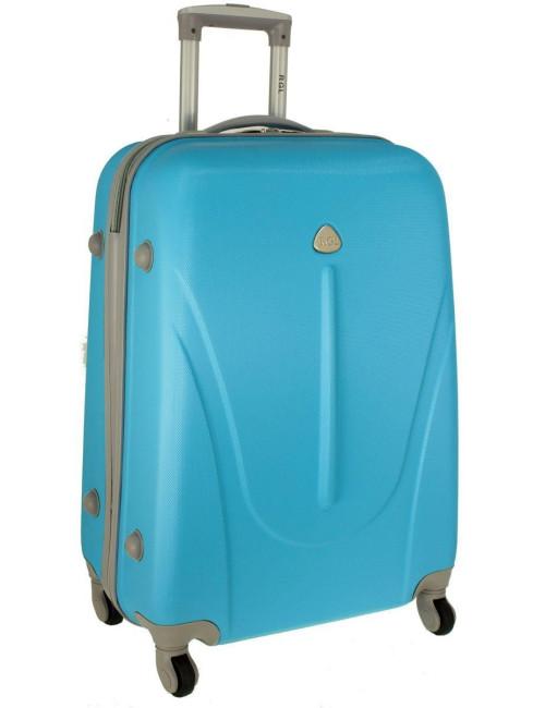 Mała walizka podróżna na kółkach 883 RGL 55x40x20 - lazurowa