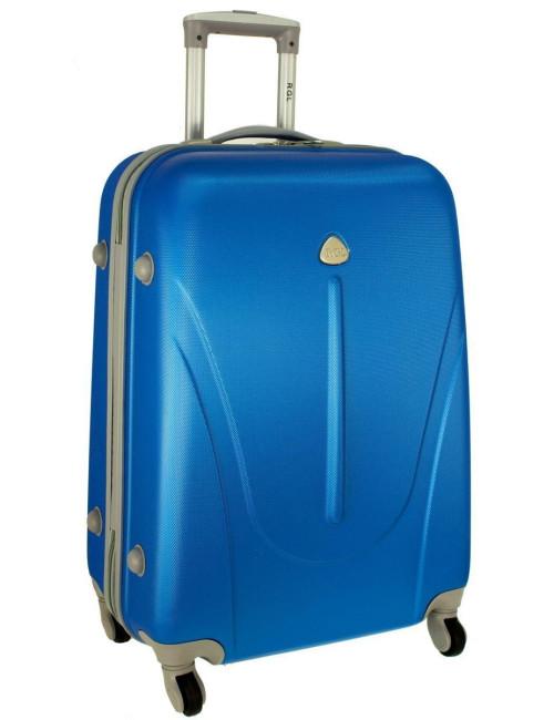 Mała walizka podróżna na kółkach 883 RGL 55x40x20 - niebieska