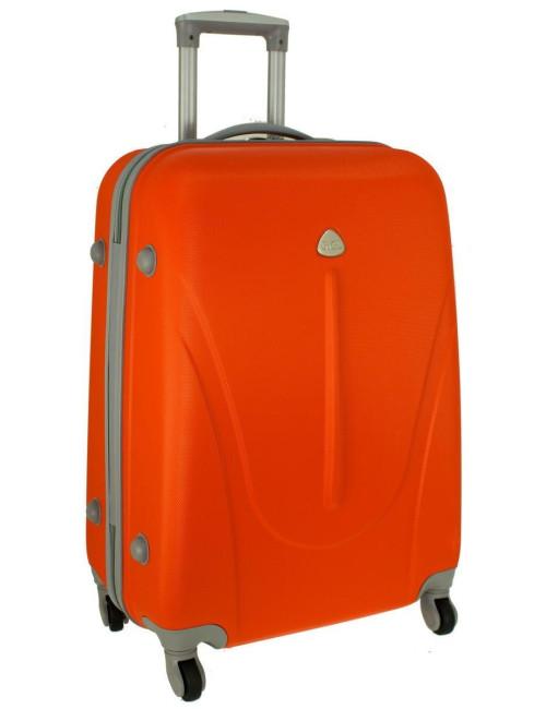 Mała walizka podróżna na kółkach 883 RGL 55x40x20 - pomarańczowa