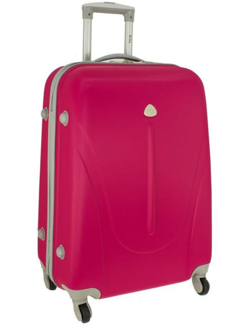 Mała walizka podróżna na kółkach 883 RGL 55x40x20 - różowa