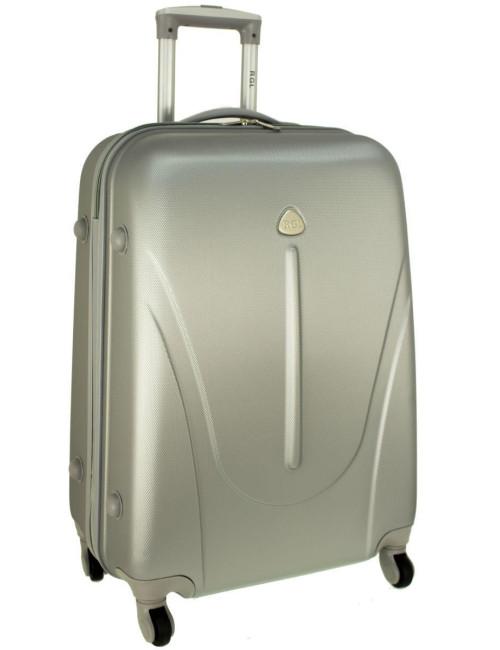 Mała walizka podróżna na kółkach 883 RGL 55x40x20 - srebrna