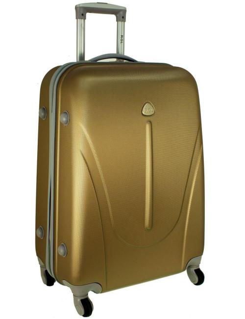 Mała walizka podróżna na kółkach 883 RGL 55x40x20 - szampańska
