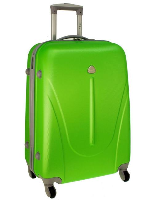 Mała walizka podróżna na kółkach 883 RGL 55x40x20 - zielona