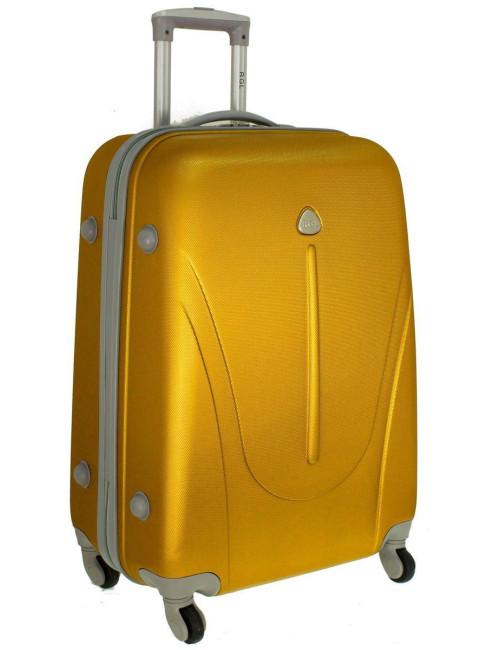 Mała walizka podróżna na kółkach 883 RGL 55x40x20 - złota