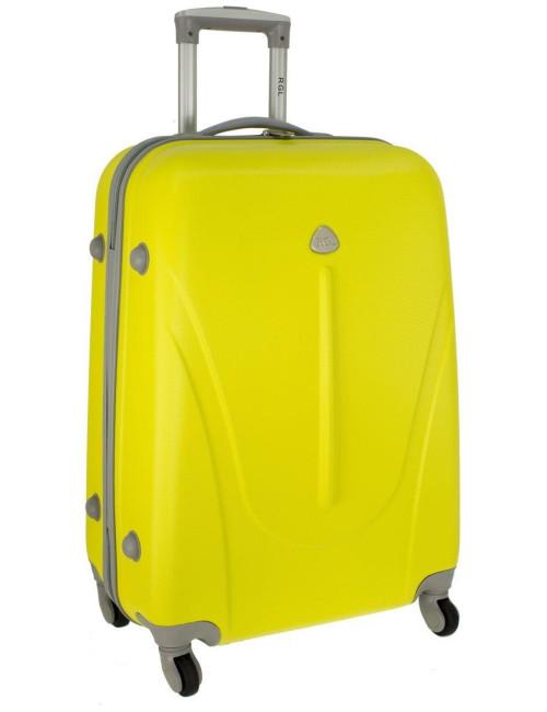 Mała walizka podróżna na kółkach 883 RGL 55x40x20 - żółta