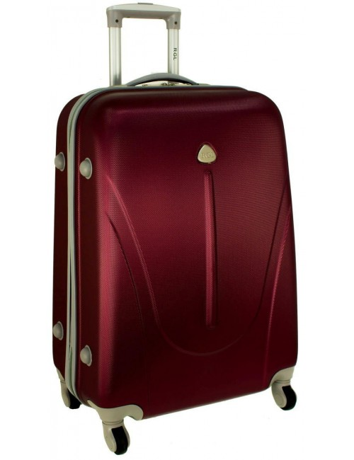 Mała walizka podróżna na kółkach 883 RGL 55x40x20 - bordowa