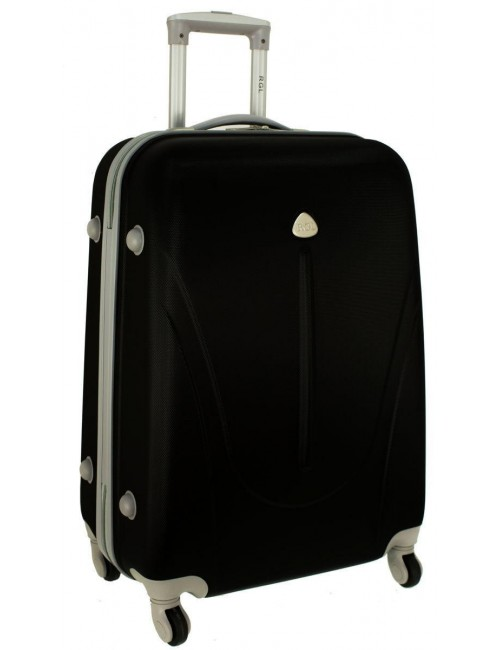 Mała walizka podróżna na kółkach 883 RGL 55x40x20 - czarna