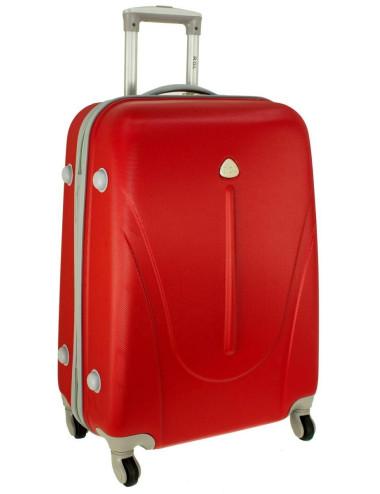 Mała walizka podróżna na kółkach 883 RGL 55x40x20 - czerwona
