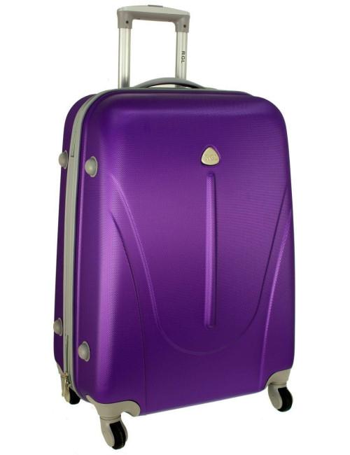 Mała walizka podróżna na kółkach 883 RGL 55x40x20 - fioletowa