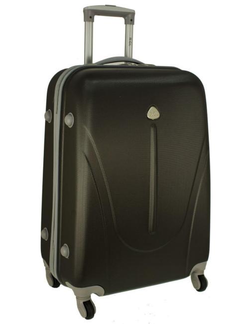 Mała walizka podróżna na kółkach 883 RGL 55x40x20 - grafitowa