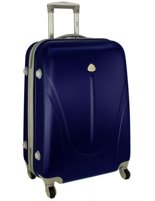 Mała walizka podróżna na kółkach 883 RGL 55x40x20 - granatowa