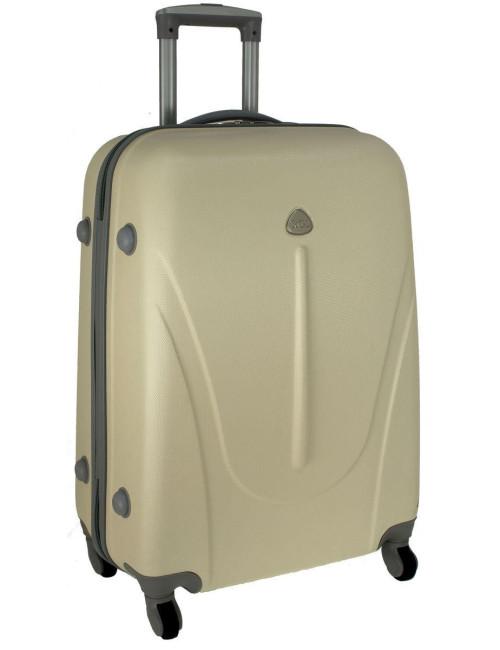 Mała walizka podróżna na kółkach 883 RGL 55x40x20 - kremowa