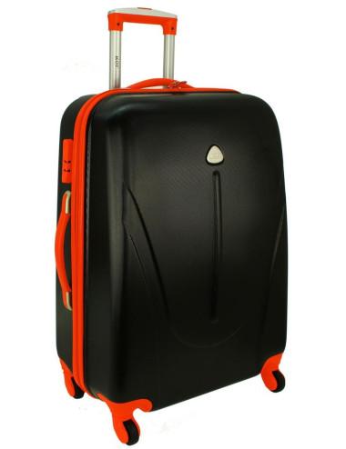 Duża walizka podróżna na kółkach 883 RGL - grafitowo-pomarańczowy