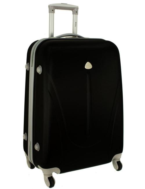 Duża walizka podróżna na kółkach 883 RGL - czarna