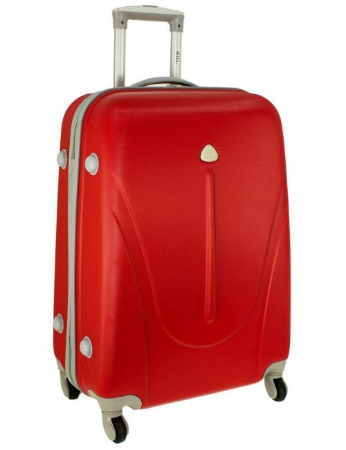 Duża walizka podróżna na kółkach 883 RGL - czerwona
