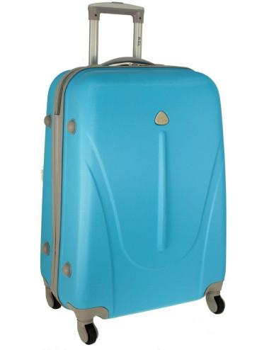 Duża walizka podróżna na kółkach 883 RGL - lazurowa
