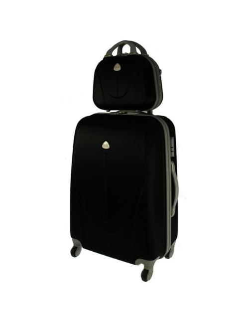 5817e510b598c Zestaw walizka podróżna na kółkach + kuferek kosmetyczka podróżna 883