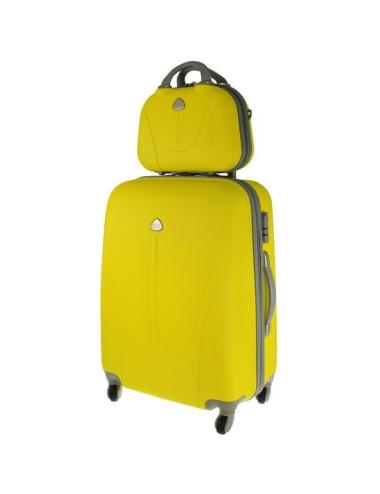 Walizka XL + kuferek XL 883 - żółty