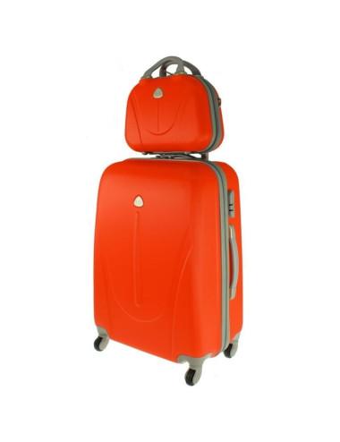 Walizka XXL + kuferek XXL 883 -  pomarańczowy