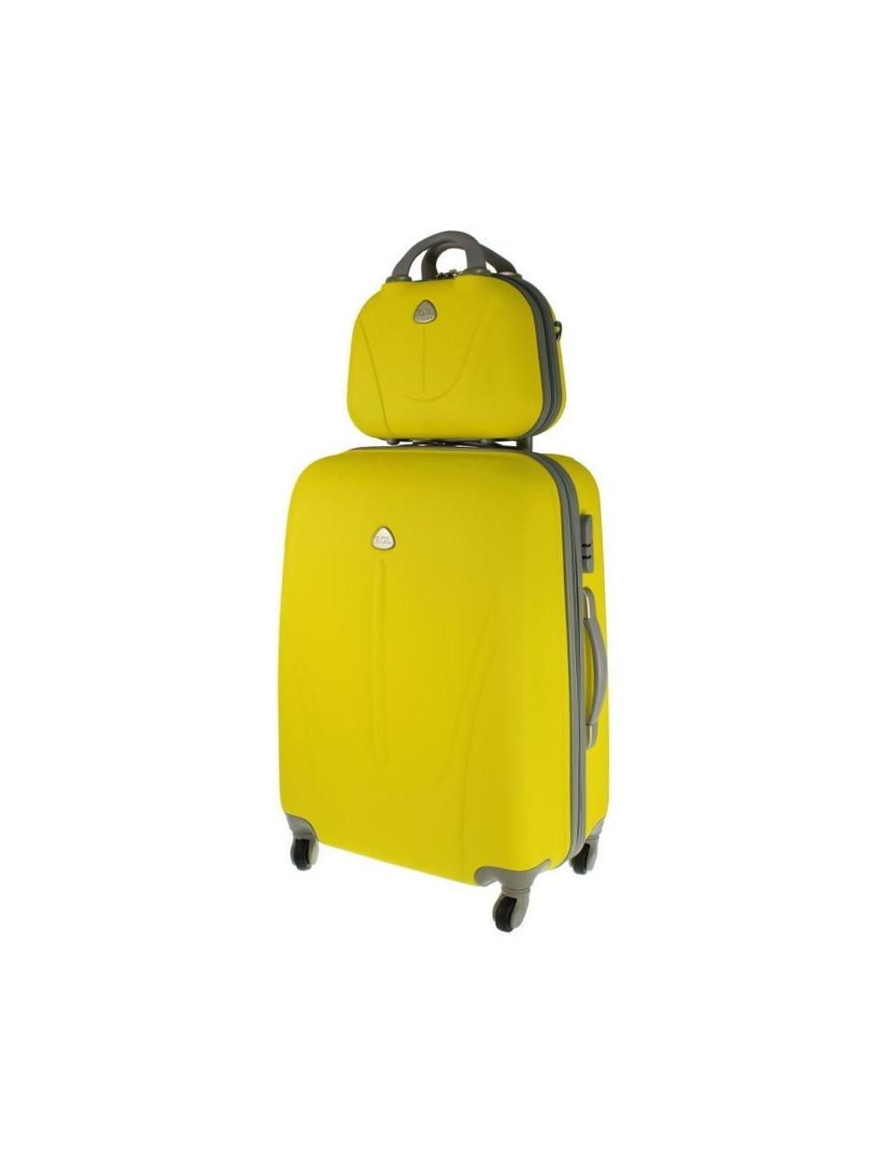 Walizka L + kuferek L 883 - żółty