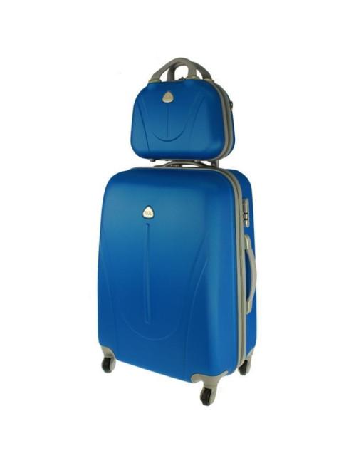 Walizka L + kuferek L 883 - niebieski