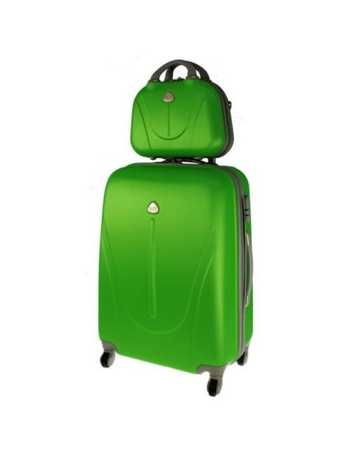 Walizka L + kuferek L 883 - zielony