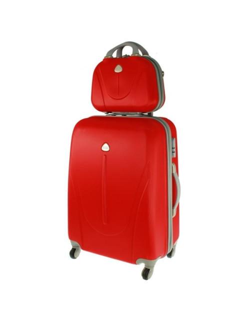 Walizka L + kuferek L 883 - czerwony