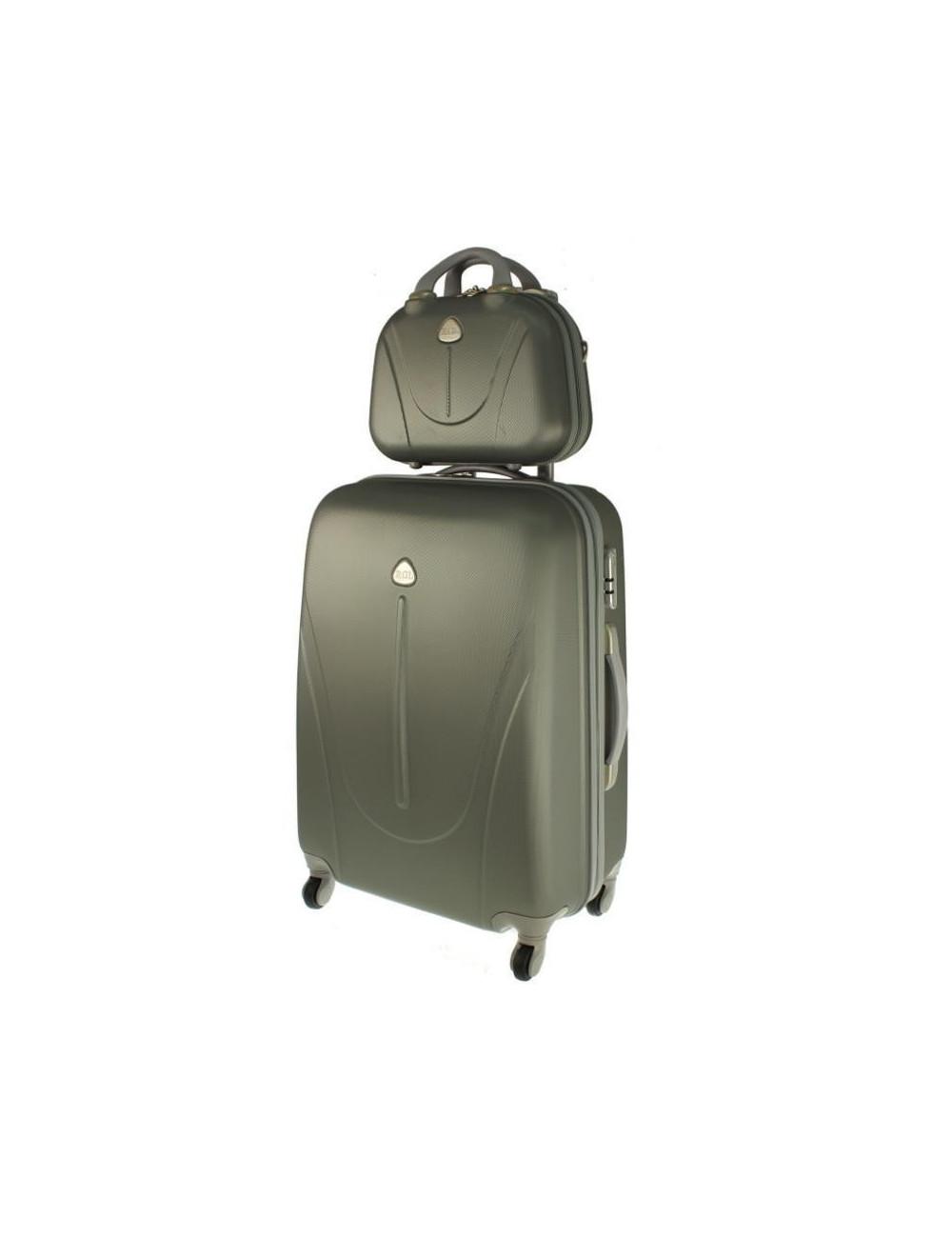 fa334902e92d4 Zestaw walizka podróżna na kółkach + kuferek kosmetyczka podróżna 883