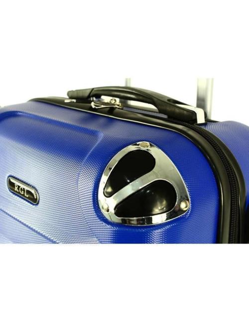 730 Duża Mocna Walizka Podróżna XXL ABS RGL - wzmocnienia w narożnikach walizki