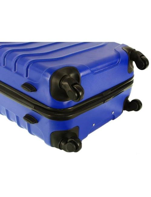 730 3w1 Mocne Walizki Podróżne ABS RGL - cztery obrotowe kauczukowe kółka